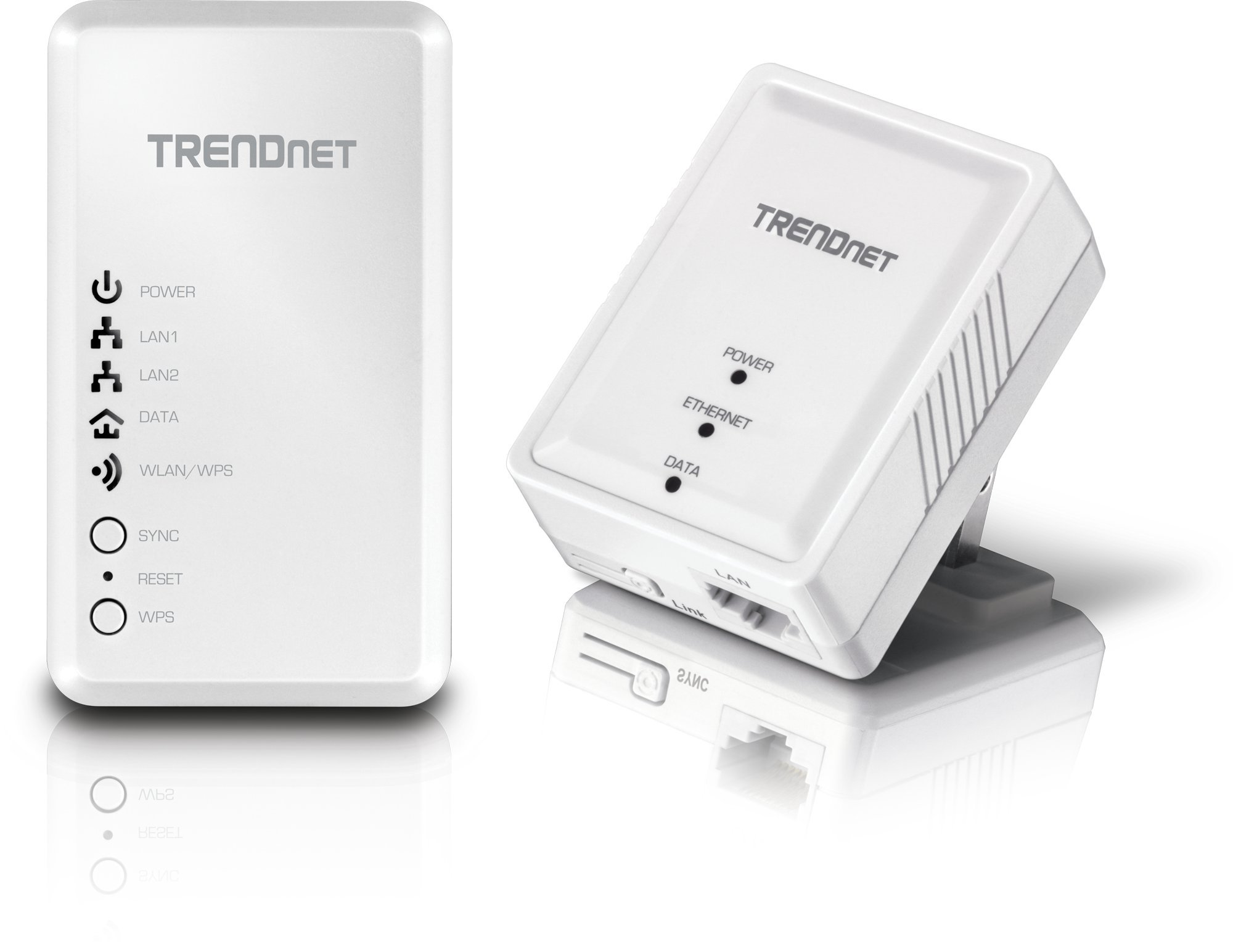 TRENDnet Powerline 500 AV Kit with Wi-Fi Extender, Includes 1 x TPL-406E + 1 x TPL-410AP, 500 AV Powerline and N300 Wireless N, TPL-410APK by TRENDnet