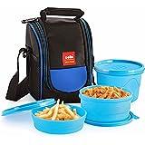 Cello Max Fresh Super Polypropylene Lunch Box Set, 225ml, 3-Pieces, Blue