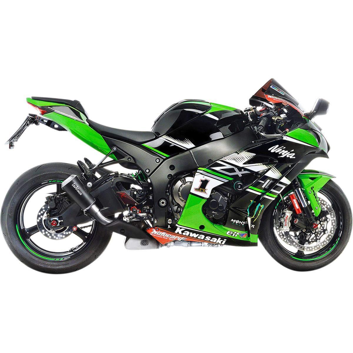 Amazoncom 16 18 Kawasaki Zx10r Leo Vince Lv 10 Slip On Exhaust