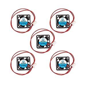 WINSINN 25mm Fan 5V Dual Ball Bearing Brushless 2510 25x10mm for Cooling DIY Mini Cooling PCB/Notebook/Graphics Card - High Speed (Pack of 5Pcs)