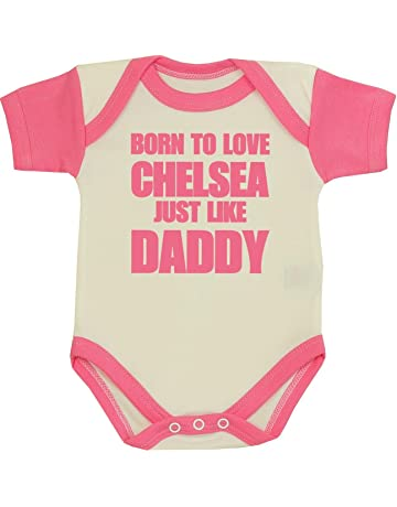 Manchester City Just Like Daddy Football Fan Baby Grow Vest Boy Girl Gift Romper Newborn Shower