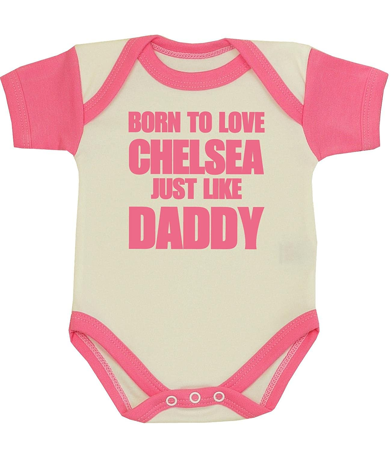 Babyprem Baby Bodysuit Clothes Born To Love Chelsea Like Daddy NB 12