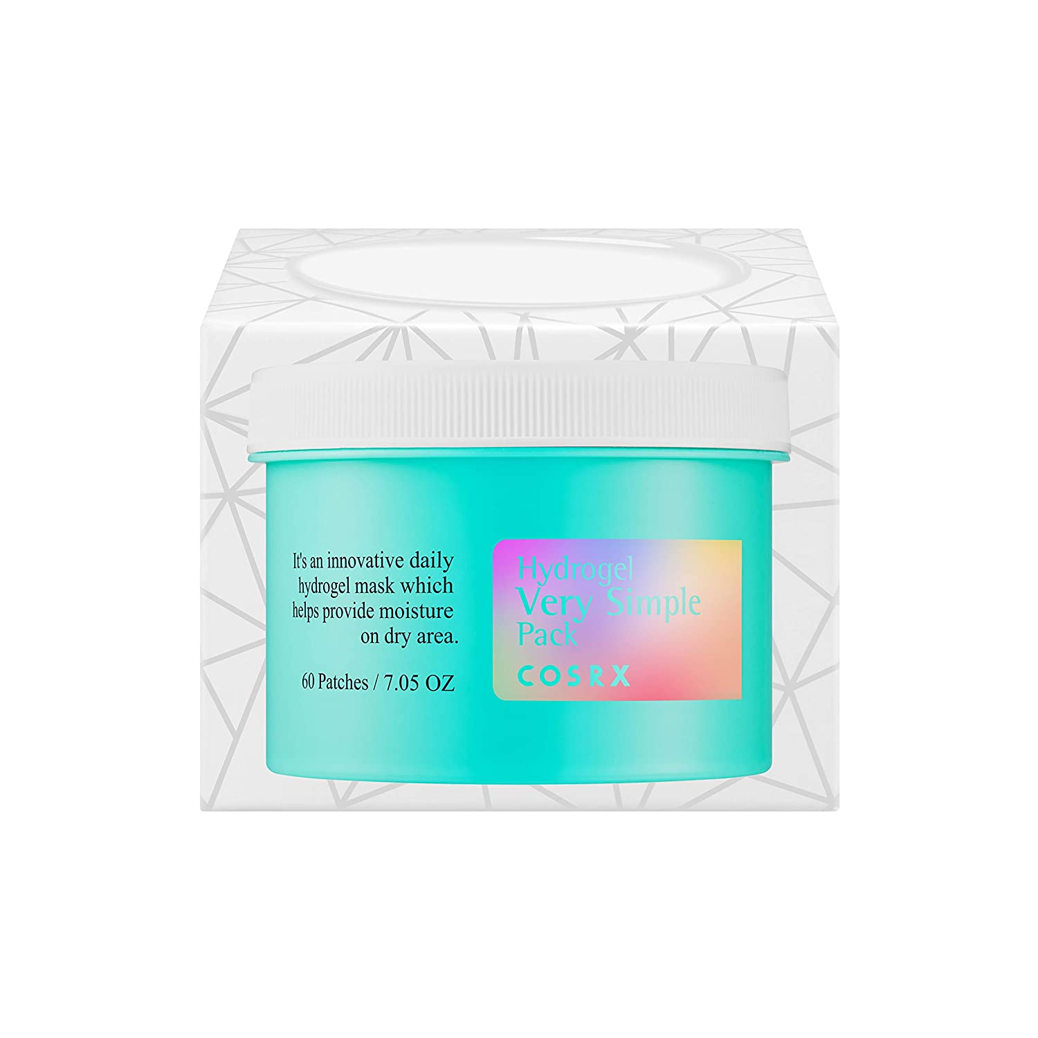 COSRX Hydrogel Very Simple Pack, 60ea 7.05 oz – Quick and Simple Facial Masks that Provide Immediate Cooling Effect, Moisturize Your Skin