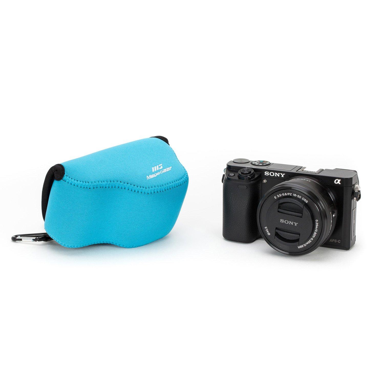 MegaGear MG075 Estuche para c/ámara fotogr/áfica Carcasa compacta Azul Funda Carcasa compacta, Sony, Alpha A5100, A5000 with 16-50mm Lens, NEX-5T, NEX-3N, NEX-5R, Azul