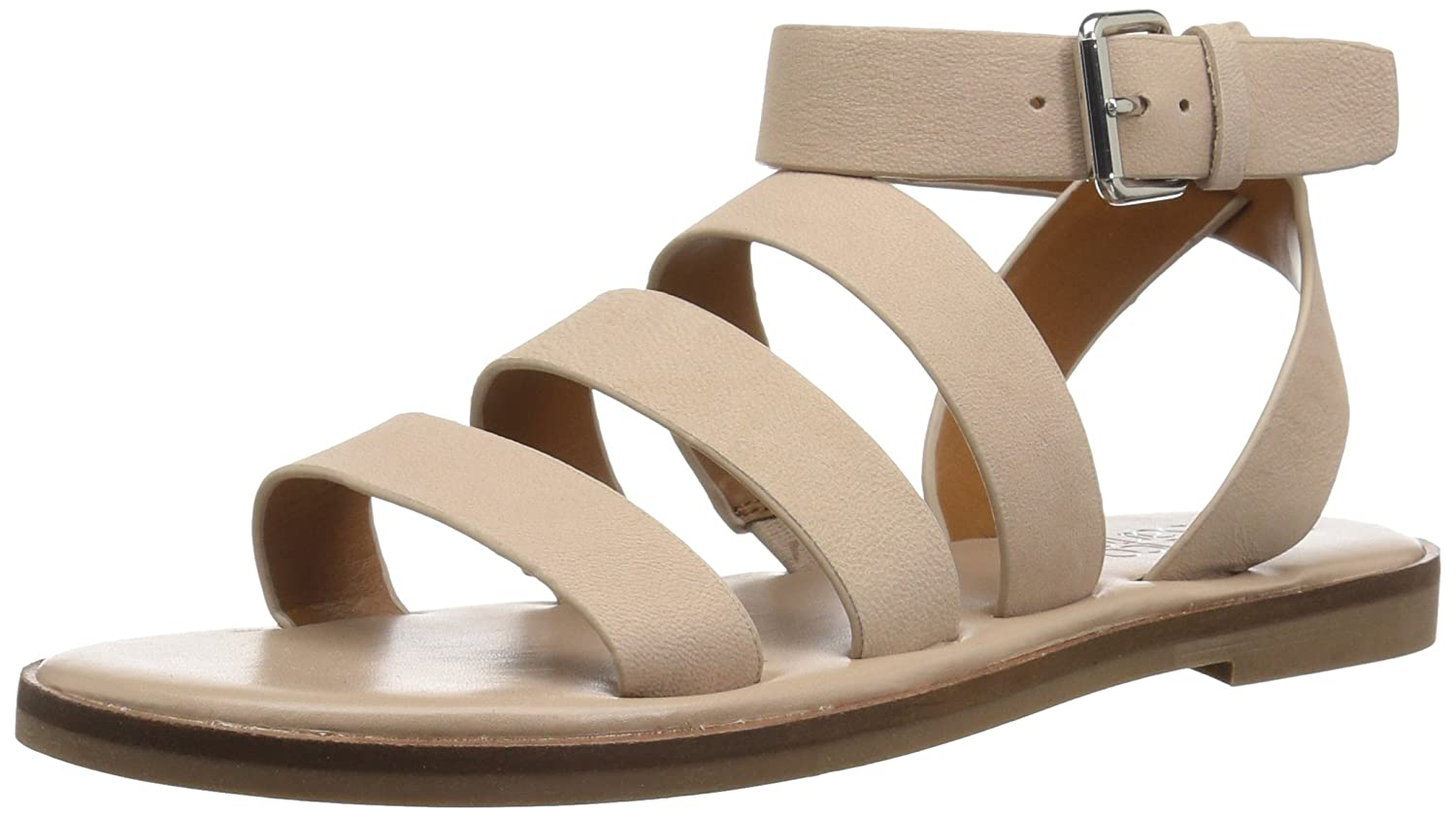 Franco Sarto Women's Kyson Flat Sandal B078VCJHTP 11 B(M) US|Light Bone