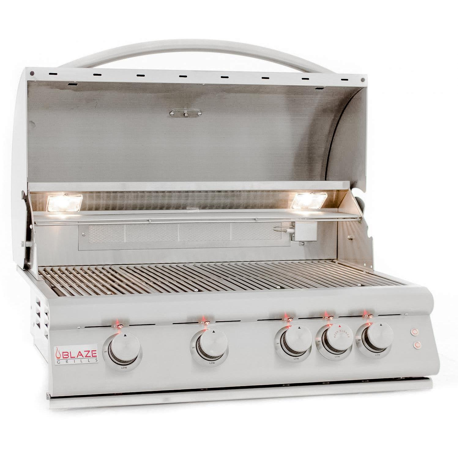 Blaze Lte 32-inch 4-burner Built-in Natural Gas Grill With Rear Infrared Burner & Grill Lights - Blz-4lte2-ng by Blaze Outdoor Products