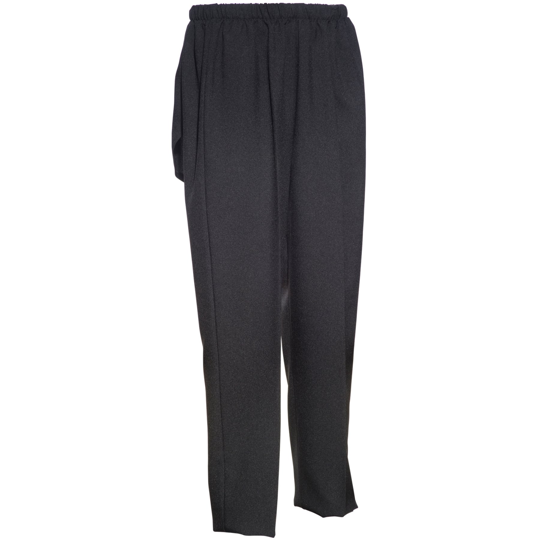 Adaptive Modesty Incontinence Pants With Covered Cut-Out Seat Black Polyester (3X)