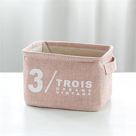 foldable storage baskets fabric storage box mini square natural rh amazon co uk Pink Storage Bins Large Storage Baskets for Shelves