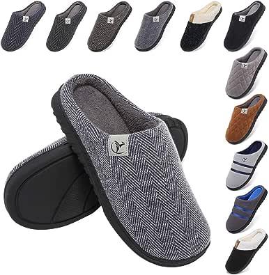 incarpo Zapatillas Casa Hombre Antideslizante de Interior y Exterior Pantuflas Vellón de Coral Cálido y Confortable Zapatillas