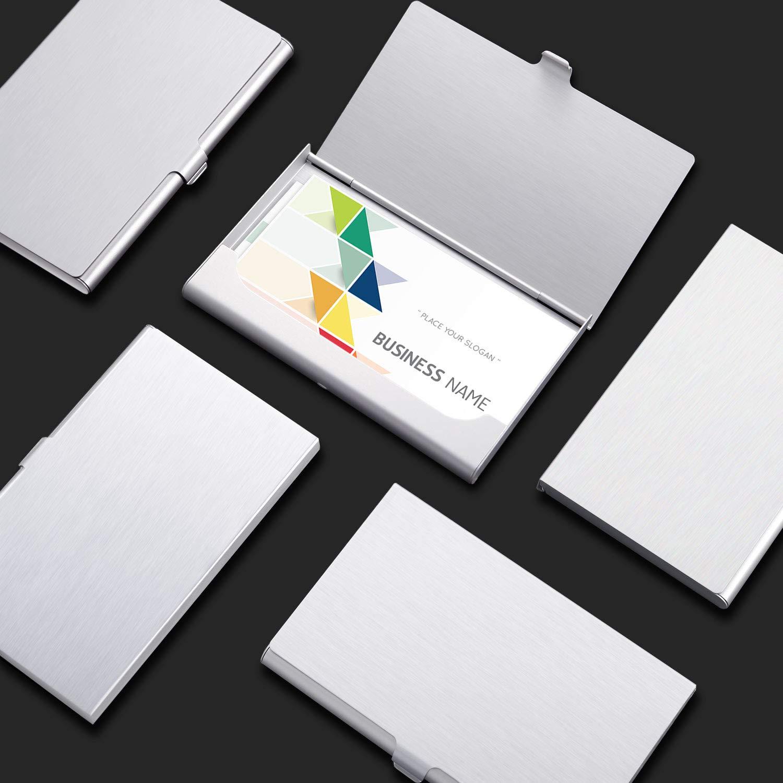 Tarjetero de Cr/édito para Hombres y Mujeres Multicolor-A 6 Piezas de Estuche para Tarjetas de Visita de Aluminio