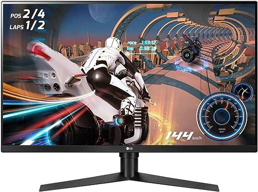 "LG 32GK850F UltraGear Gaming Monitor 32"" LED VA QuadHD HDR 400, 2560x1440, 1ms MBR, AMD FreeSync 144Hz, HDMI 2.0, Display Port 1.2, USB Hub, Uscita Audio, Stand Pivot, Flicker Safe, Nero"