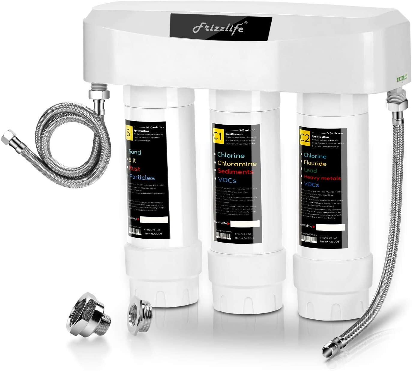 Frizzlife SK99 3-Stage Under Sink Water Filter