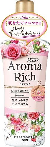 ライオン株式会社 ソフラン アロマリッチ ダイアナ フェミニンローズアロマの香り 本体 520ml