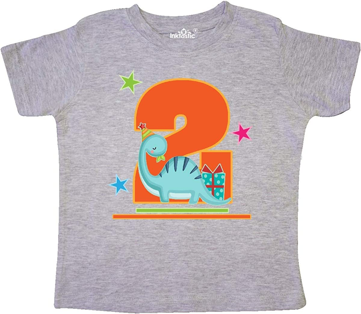 inktastic 2nd Birthday Dinosaur 2 Year Old Toddler T-Shirt