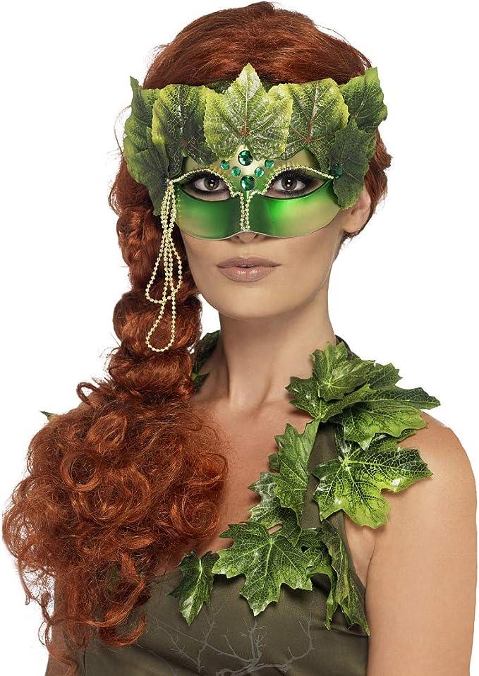 NET TOYS Elegante máscara de Hada del Bosque para Adulto - Verde ...