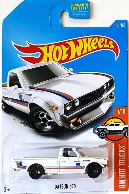 Amazoncom Hot Wheels 2017 Hw Hot Trucks Datsun 620 181365 White