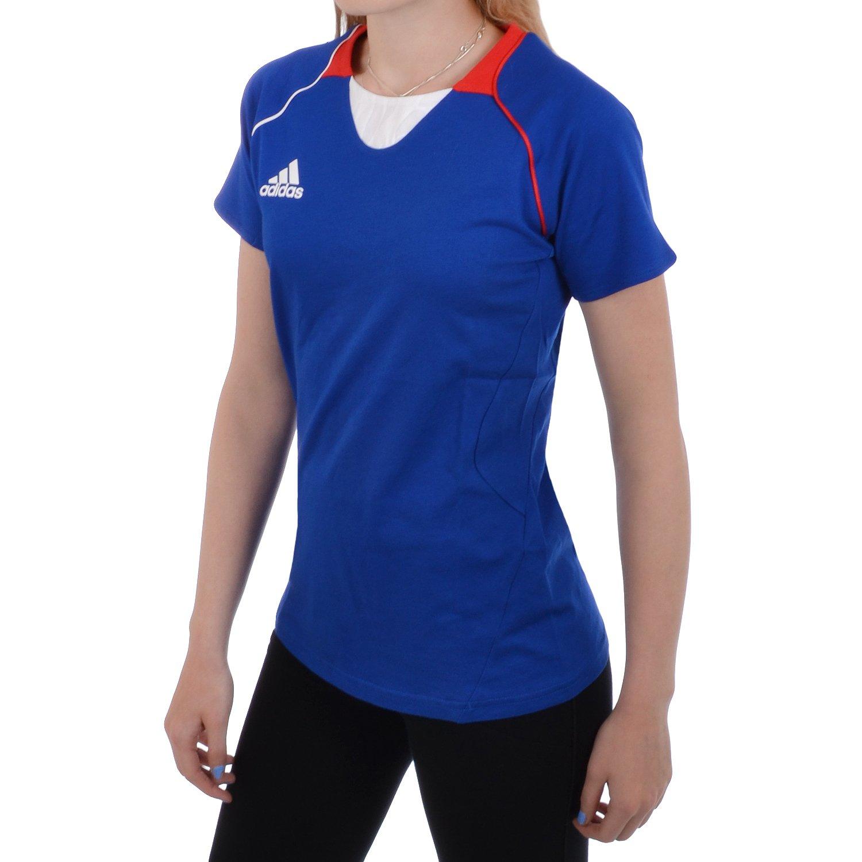 adidas Performance - Damen T-Shirt zum Laufen - Frankreich - Blau - 40:  Amazon.de: Sport & Freizeit