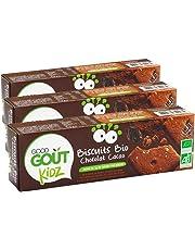 Good Goût - BIO - Kidz Biscuits Chocolat Cacao dès 3 Ans 110 g - Lot de 3