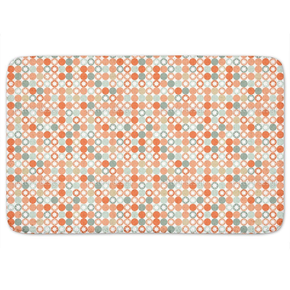 Autumnal Star Bingo Bathroom Rugs: Memory Foam (24 X 36 inch) Incrediby Soft Memory Foam Spa Quality by uneekee