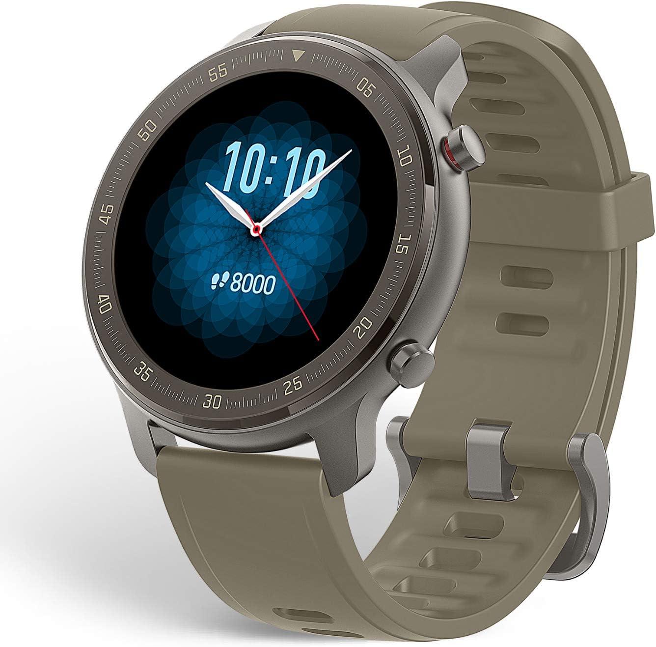 Amazfit GTR 47mm - Reloj Inteligente con Seguimiento de Actividad y frecuencia cardíaca, batería de Larga duración - Titanium