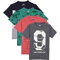 chopper club Camisetas de algodón para niños Paquete de 4 Camisetas Camisetas Estampadas