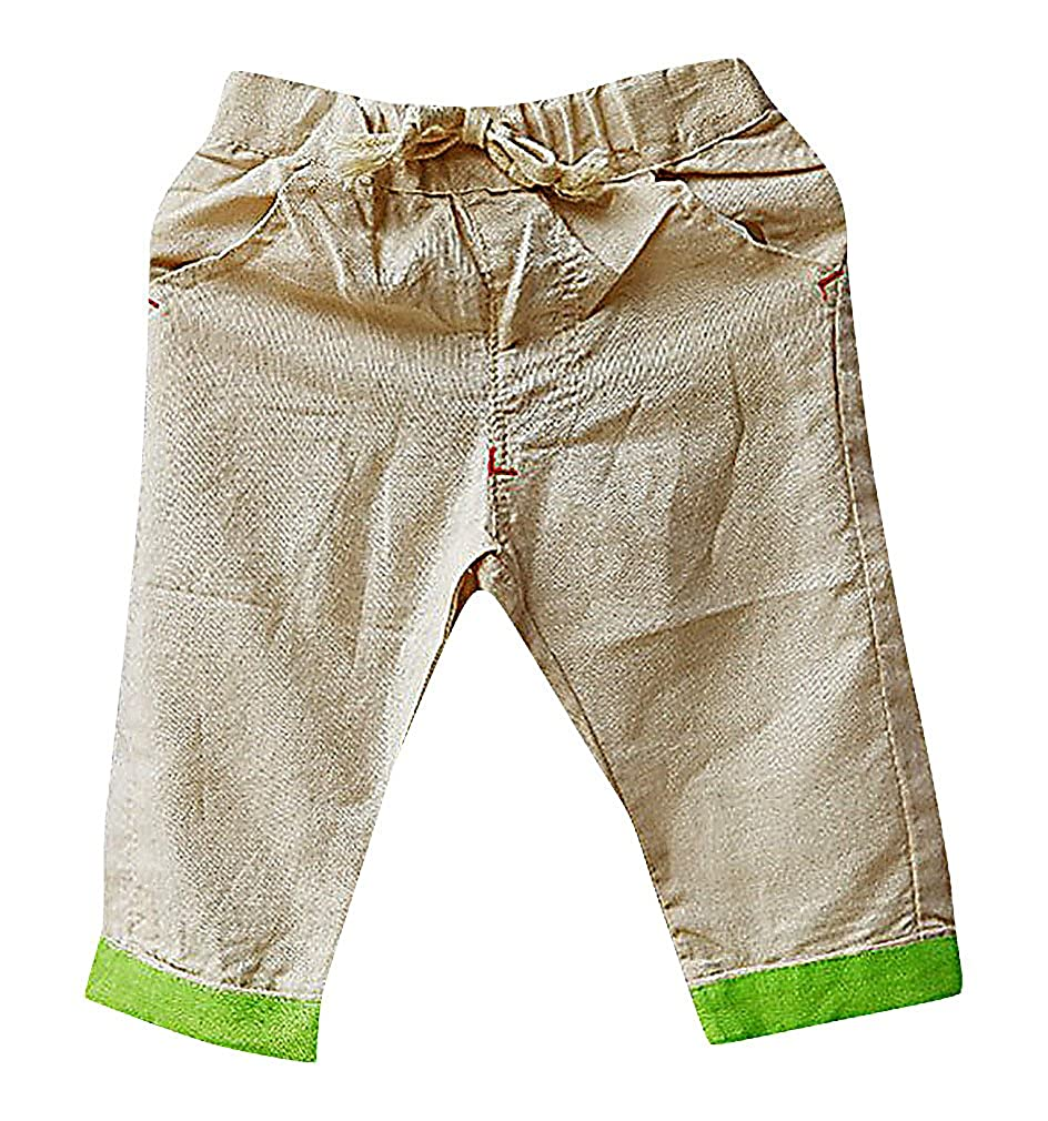Sweety Unisex Kids Sporty Solid Color Pull On Soft Cotton Linen Short Pants