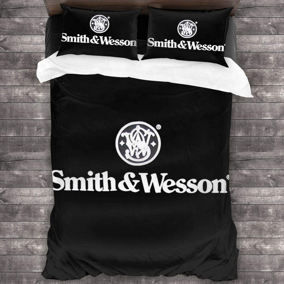 Smith & Wesson Sheet Cover-3 Piece Set-Hotel Luxury Bed Sheet-Extra Soft-Deep Pocket-Easy to Install-Breathable and Cooling Sheets-No Wrinkles-Comfortable.