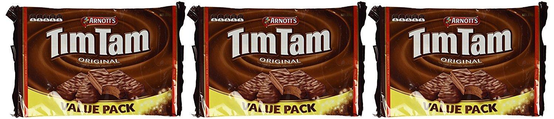 Arnotts Tim Tam Original 330g (Three Pack) (Made in Australia) x (2 Pack) (=Total 6 Pack)