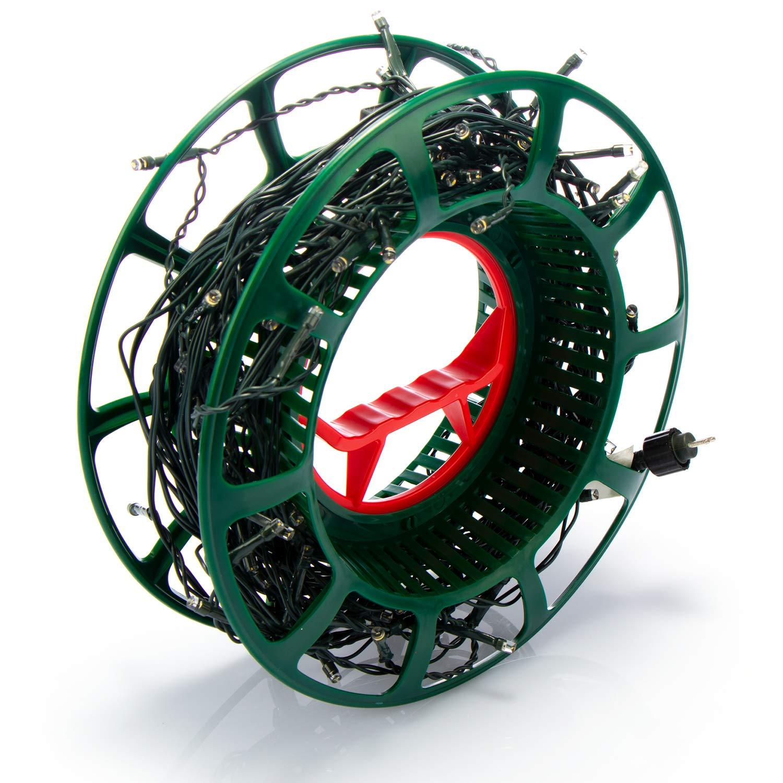 com-four/® Carrete Cadenas Ligeras Cintas y alambres Tambor de Cable de pl/ástico vac/ío Tambor de Cable como Organizador de Cables 01 Pieza - Carrete