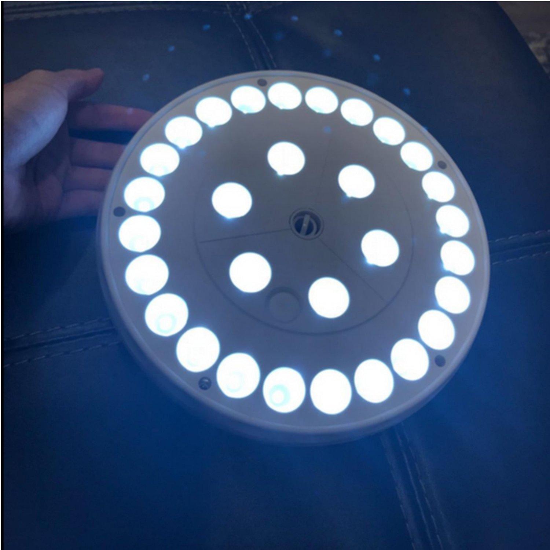 AVOMAR Solar Flag Pole Lights 30 LED Weatherproof Flagpole Downlight Night Lighting for 15 to 25 Ft Flag Pole