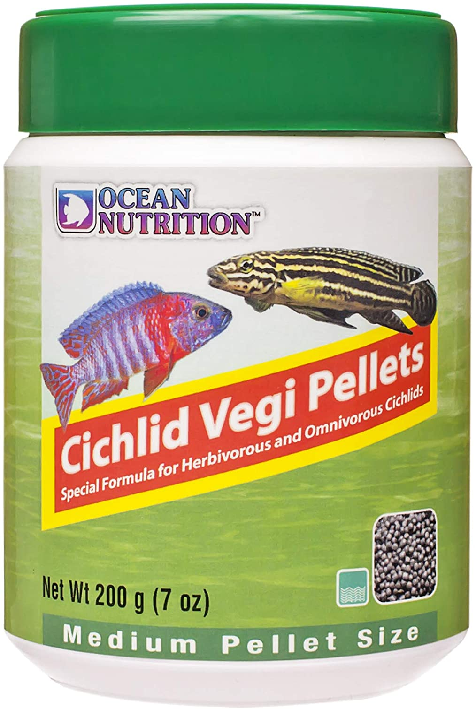 Ocean Nutrition Cichlid Vegi Pellets 7-Ounce (200 Grams) Jar - Medium Pellet Size