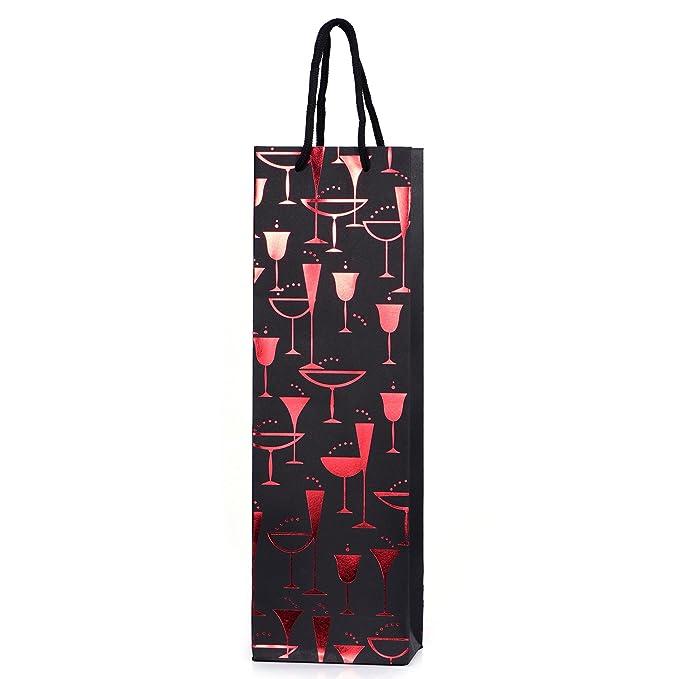 10 bolsas para botellas, bolsas de regalo para vino, prosecco y champán 40 x 12 x 9 cm - Mix