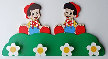 Pinocho perchero/perchas - de madera - Hecha a italiano ...