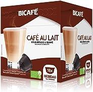 Cápsulas de Café com Leite Equilibrado e Suave Bicafé, Compatível com Dolce Gusto, Contém 16 Cápsulas