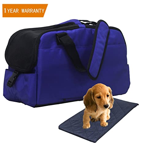 Orionstar Airline - Bolso de transporte para mascotas de cara suave, con bolsillo y almohadilla