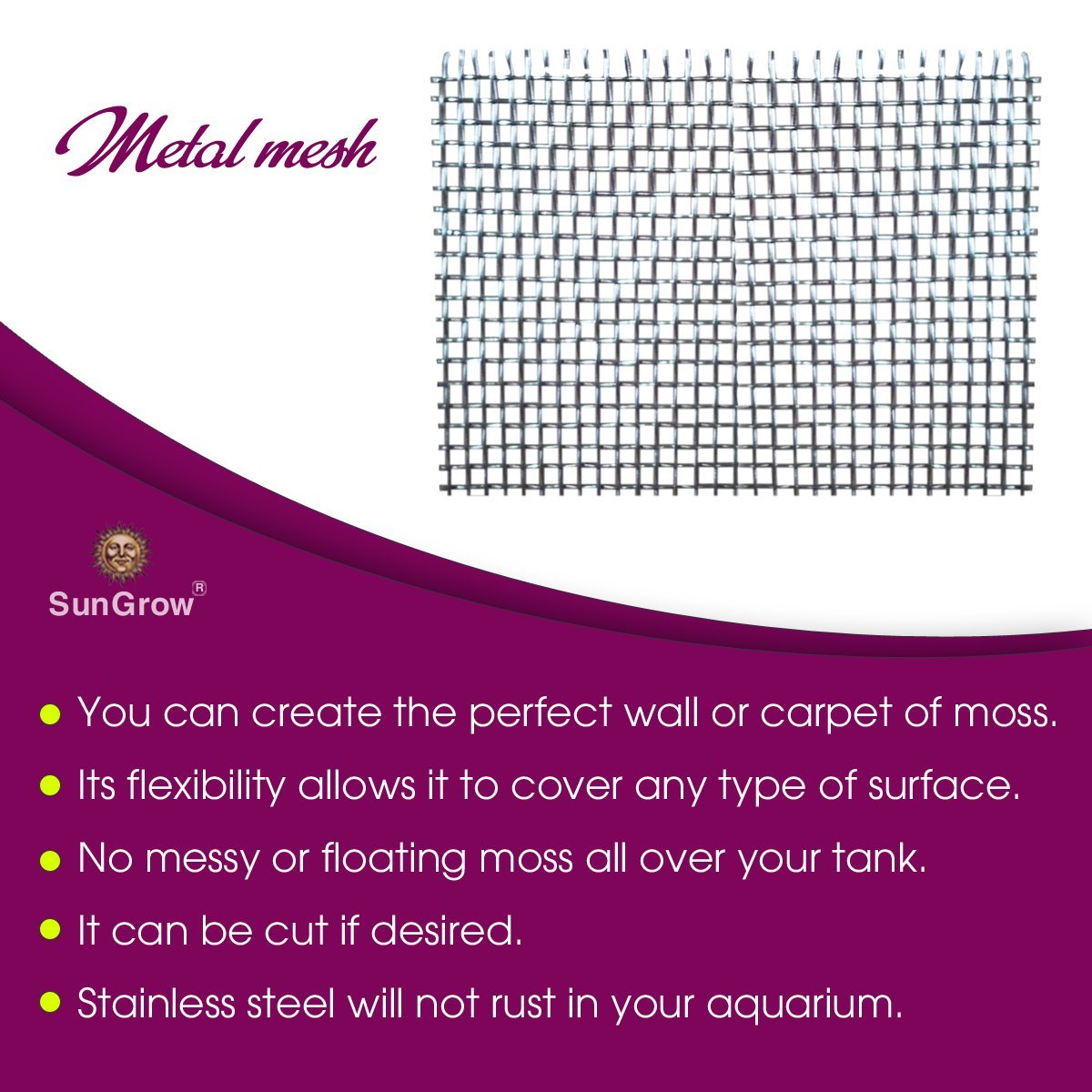 Luffy wire mesh wall 5 pcs very high grade stainless steel does not rust no messy floating for Decor star 005 ss