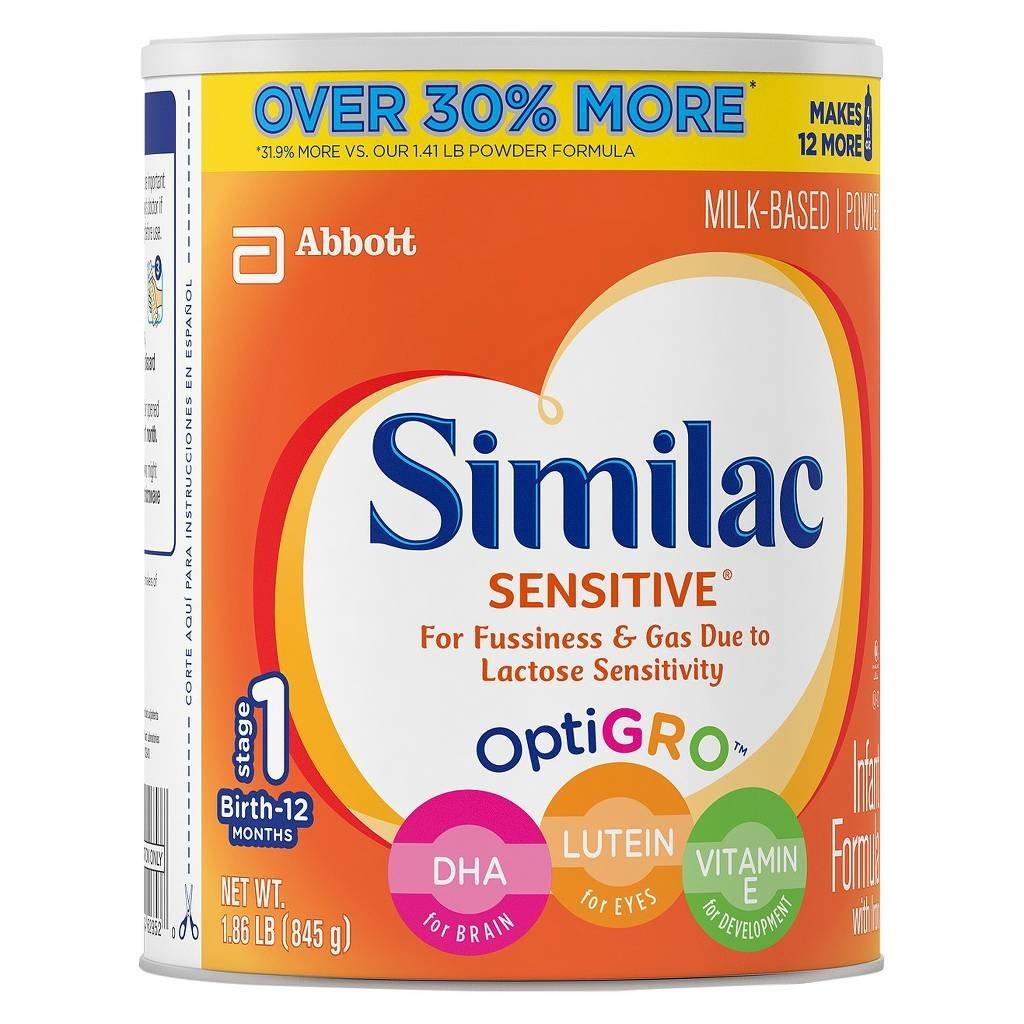 Similac Sensitive Stage 1 Baby Formula - Powder- 1.86 lb