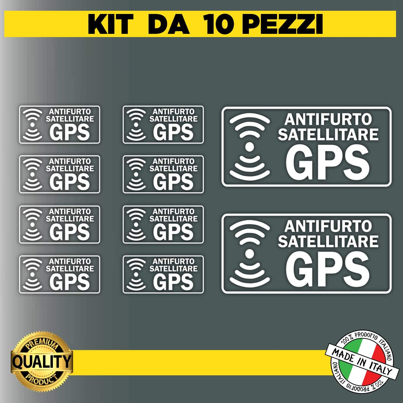 Kit da 10 Adesivi satellitari Trasparenti antifurto GPS per Interno Auto Veicolo Controllato Adesivi Allarme GPS ANTIFURTO Adesivo ANTIFURTO SATELLITARE GPS per Camion AUTOVEICOLI