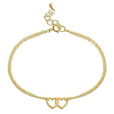 Dogeared Women Gold Charm Bracelet of Length 23cm VGB881-06-IN xrnt2gO
