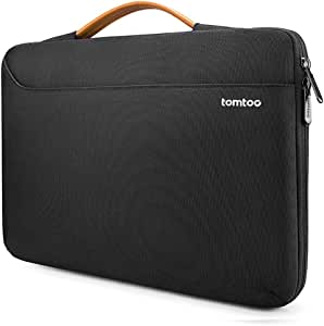 tomtoc Laptop Bag Sleeve for 2020 New Dell XPS 15 Laptop, 15-inch MacBook Pro with USB-C A1990 A1707, Surface Laptop 3 15, 14 ThinkPad T-Series / X1 Yoga (2/3rd Gen), Waterproof Protective Case Black