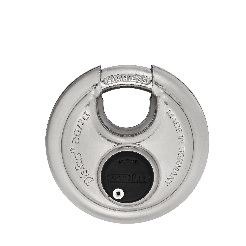 Abus 20/70 KA Diskus Padlock, Extreme High Security Disk Lock, Keyed Alike (KA) - - Amazon.com