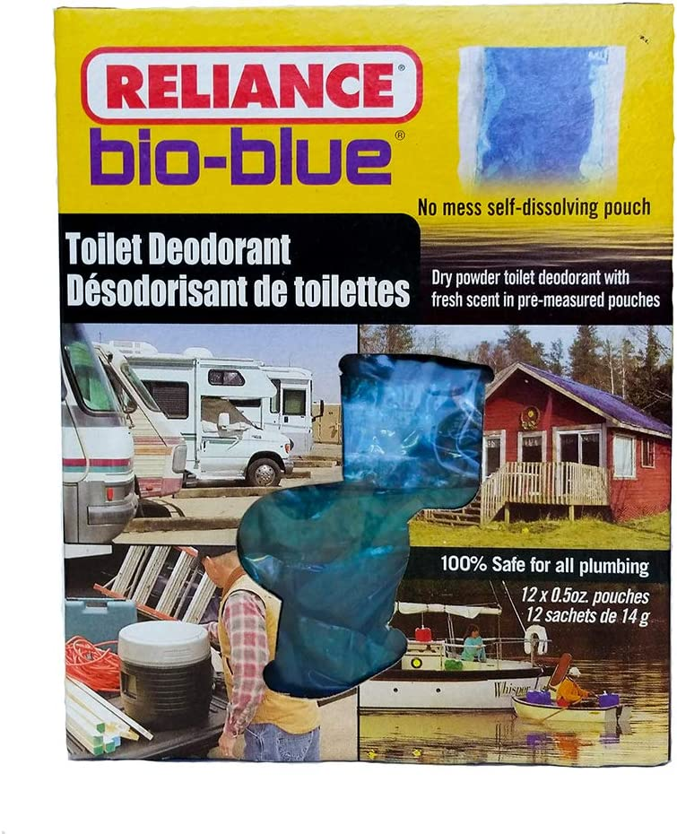 Reliance Products Bio-Blue Toilet Deodorant Chemicals (12-Pack) : Camping Sanitation Supplies : Sports & Outdoors