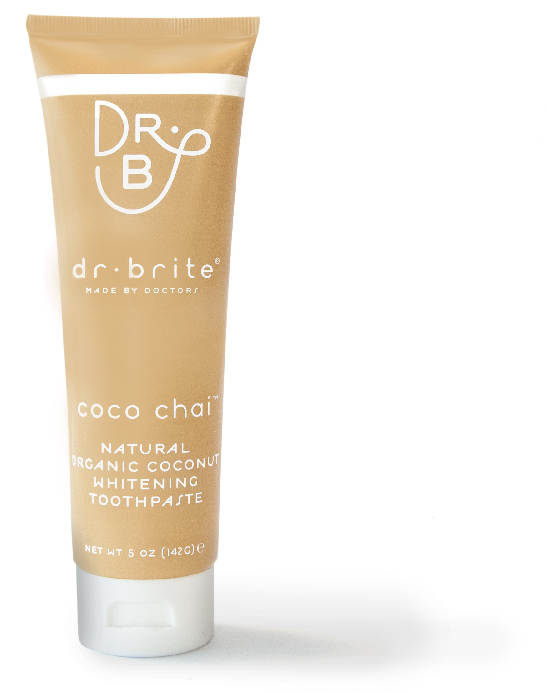 Dr. Brite Natural Whitening Toothpaste, Coco Chai, 5 Ounce (Single Pack)
