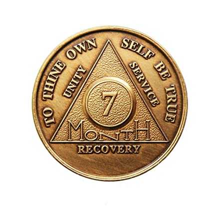 amazon com 7 month bronze aa alcoholics anonymous sober