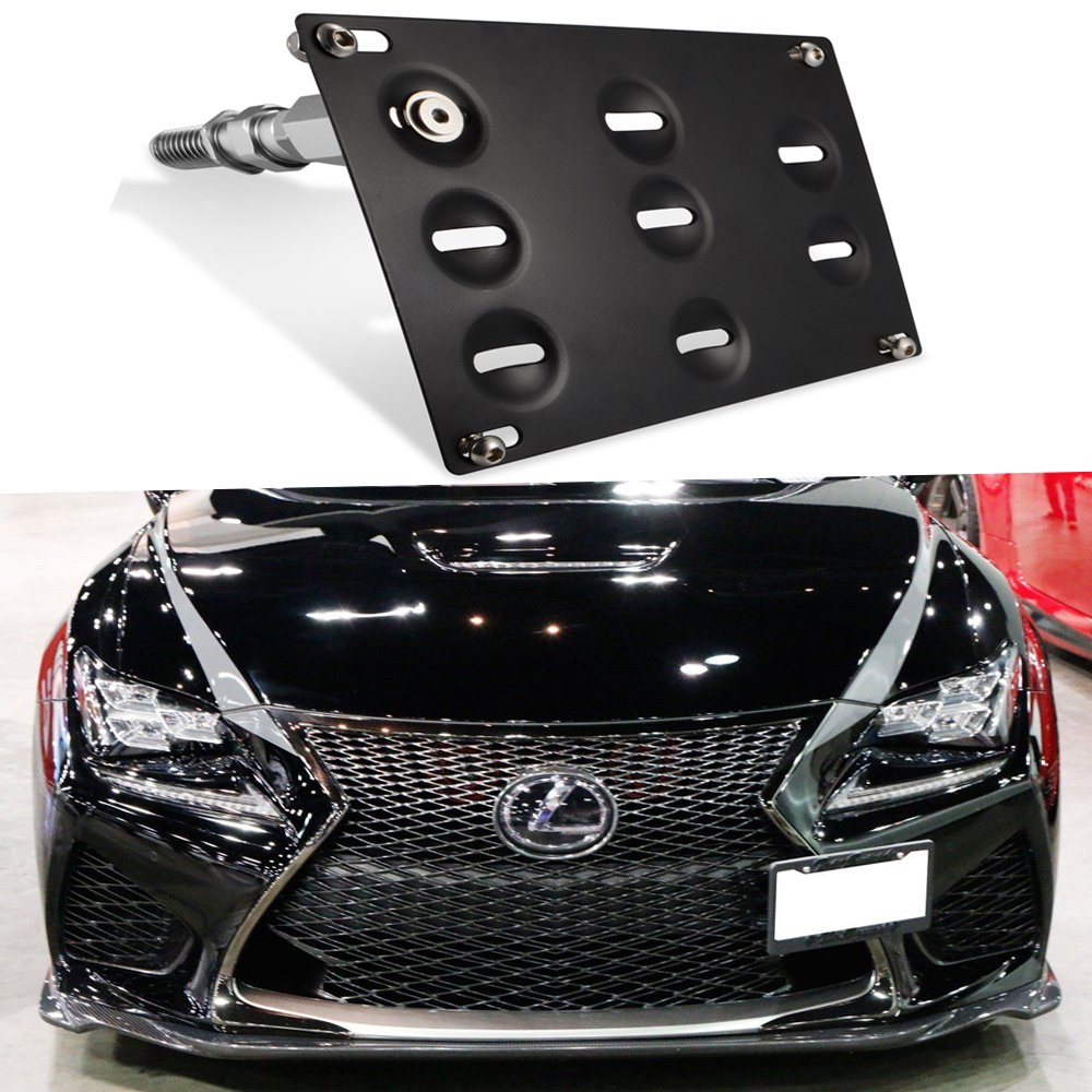 GTP JDM Style Front Bumper Tow Hook License Plate Mounting Bracket for Lexus IS250 IS350 is-F RC200t RC250 RC300 RC350 RC-F GS350 GS460, CT200h, NX RX LS