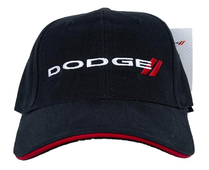 ddf7249997f Amazon.com  Dodge Logo Embroidered Hat Cap (Black)  Clothing