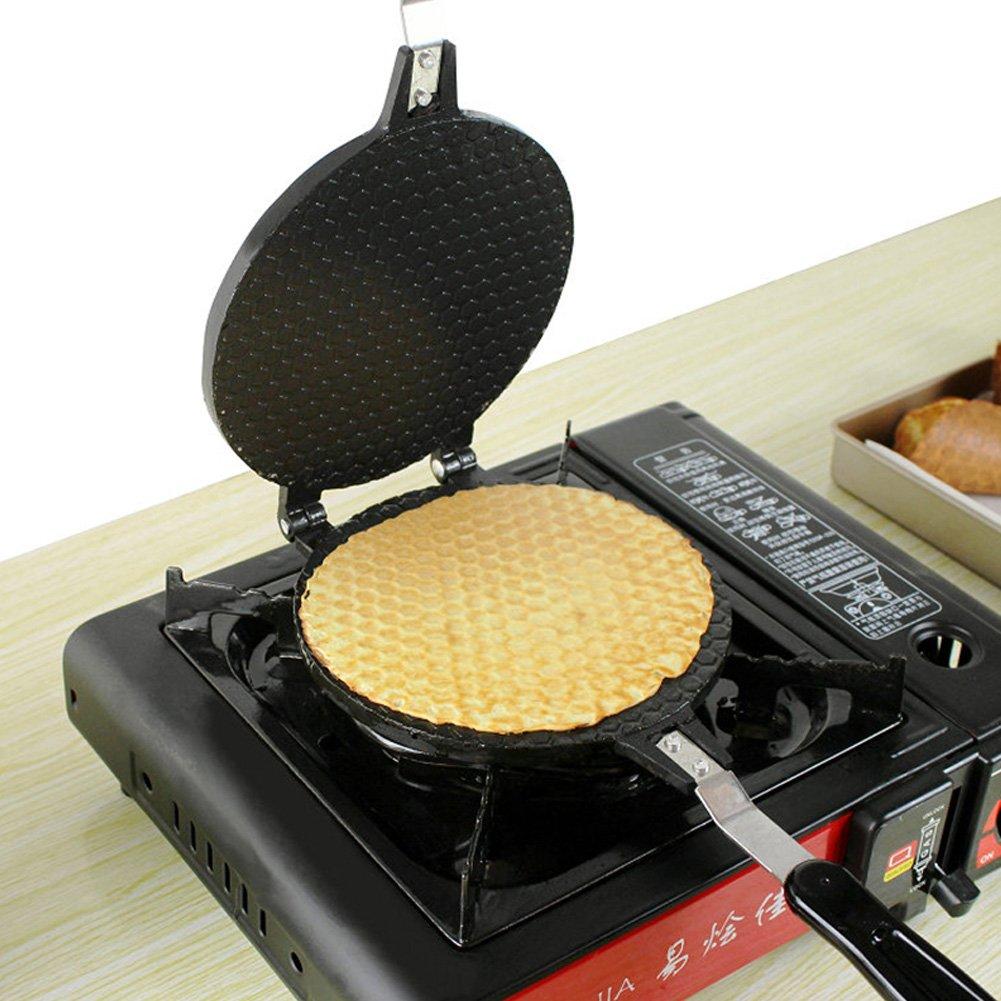 ELEOPTION Crepe Maker and Non-Stick Pan Cake Griddle Egg Roll Mode Crispy for the Baking Pan Cake Bakeware Cooking Tools (Medium) (7-inch Crepe Maker, Medium) by Eleoption (Image #5)