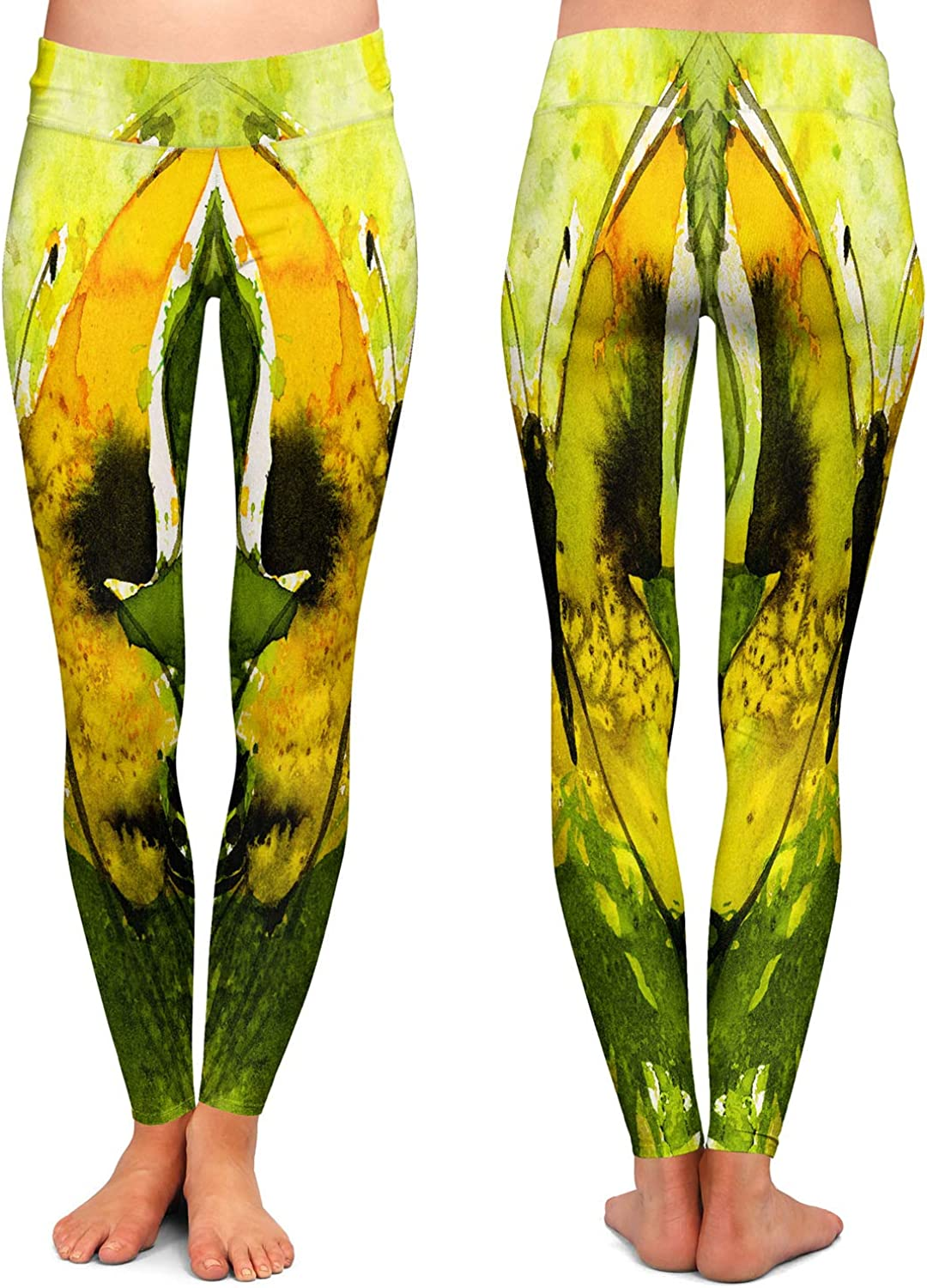 Watercolor Butterfly 35 Athletic Yoga Leggings from DiaNoche Designs by Kathy Stanion