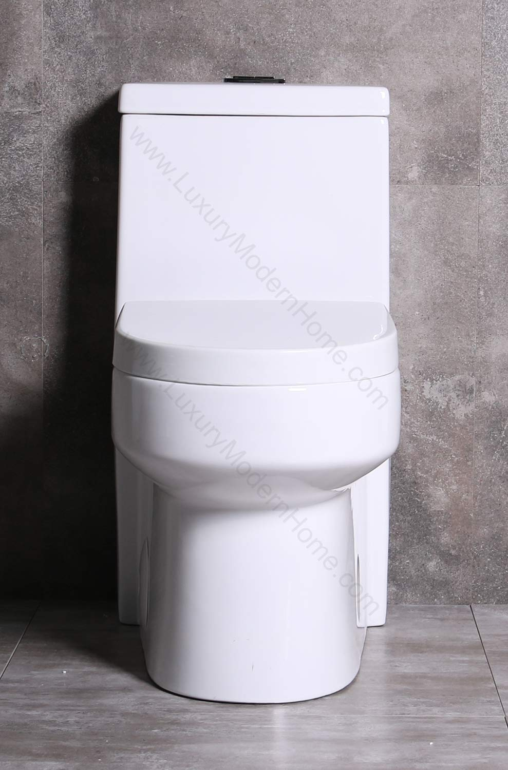GALBA Small Toilet 24.5'' Long X 13.5'' Wide X 28.5'' High Inch 1-Piece 24'' 25'' Short Compact Bathroom Tiny Mini Commode Water Closet Dual Flush Shortest Projection Elongated Concealed Trapway by www.LuxuryModernHome.com