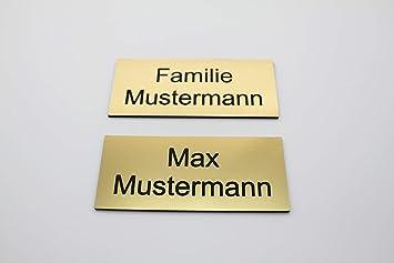 Cartel para puerta con grabado dorado - Placa para nombre ...